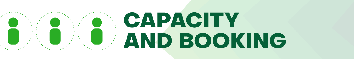 capacity and booking