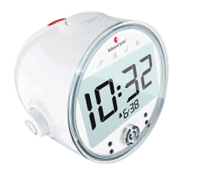 Avec son affichage digital lumineux à rétroéclairage bleu et ses gros boutons faciles à utiliser, le réveil Bellman Visit est idéal pour les personnes ayant une perte visuelle.