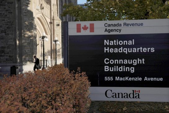THE CANADIAN PRESS/SEAN KILPATRICK, The Canada Revenue Agency headquarters in Ottawa is pictured on November 4, 2011.