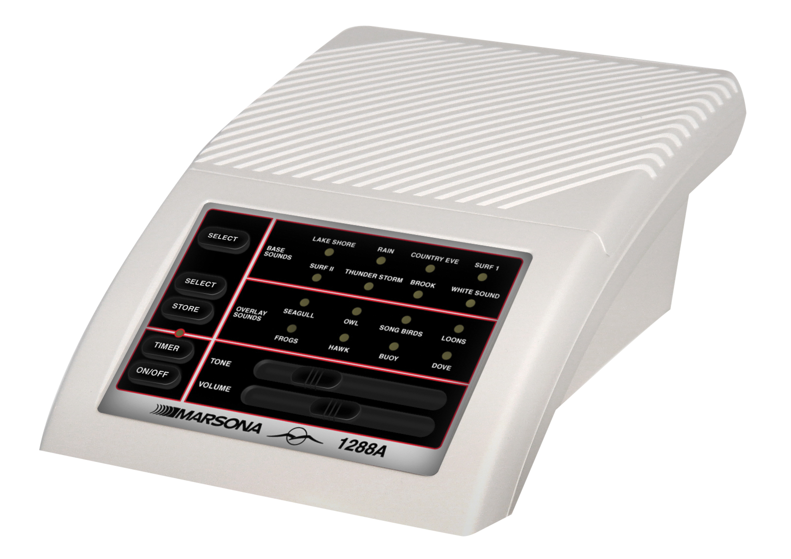 Le Marsona 1288A possède des commandes tactiles, des icônes lumineuses (LED) et un haut-parleur de haute qualité.