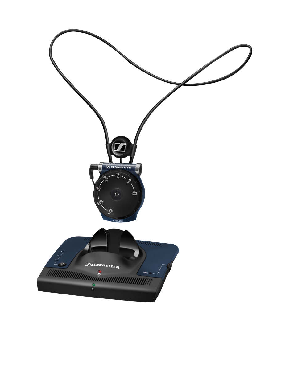 The Sennheiser Set 840S FM Pendant TV/Audio Listening System with neckloop/headset connection features a large, easy-to-read, ergonomically shaped volume and balance control.