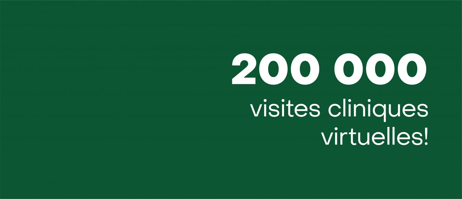 200,000 virtual clinic visits!