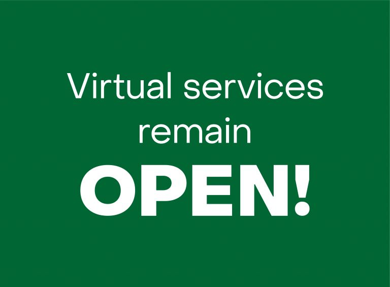 Virtual services remain open