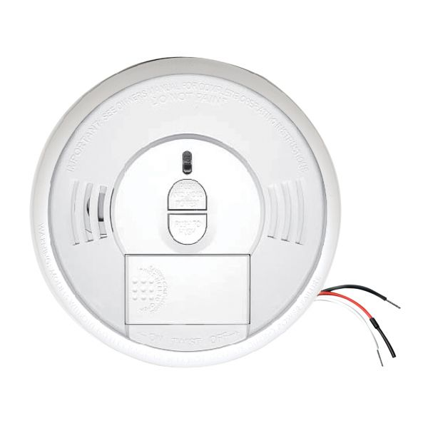 The Kidde Smoke Alarm (Ionization) has a front-loading battery door that lets you quickly and easily change the battery.